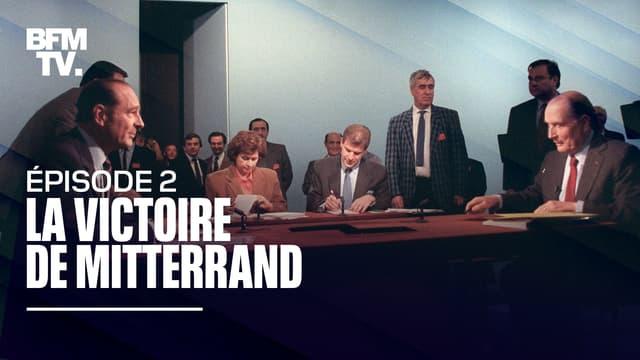 Jacques Chirac et François Mitterrand quelques minutes avant leur duel mythique du 28 avril 1988