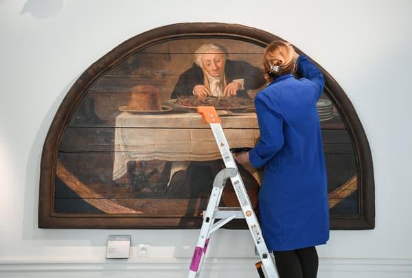 Restauration d'une œuvre du musée Carnavalet, le 20 mai 2021