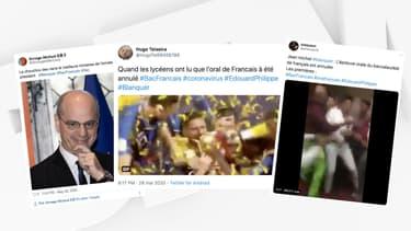 Les réactions des lycéens sur les réseaux sociaux à l'annonce de l'annulation de l'oral du bac de français.
