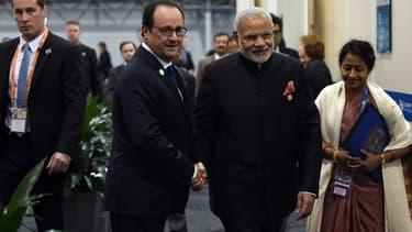 François Hollande et Narendra Modi lors du G20 de Brisbane en novembre dernier