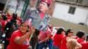 Hugo Chavez est resté jeudi sur son lit d'hôpital, à Cuba, tandis que ses partisans se rassemblaient à Caracas pour lui exprimer leur soutien à l'occasion de ce qui devait être le jour de son investiture pour un nouveau mandat de six ans. /Photo prise le