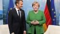 Emmanuel Macron et Angela Merkel lors du sommet du G7 à la Charlevoix, au Québec