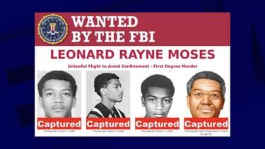 L'avis de recherche du FBI de Leonard Moses.