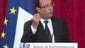 François Hollande, ce lundi, à l'Elysée, pendant son discours de clôture des Assises de l'entrepreneuriat.