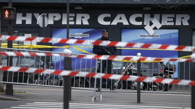 Le magasin Hyper Cacher dans lequel s'est déroulée la prise d'otages.