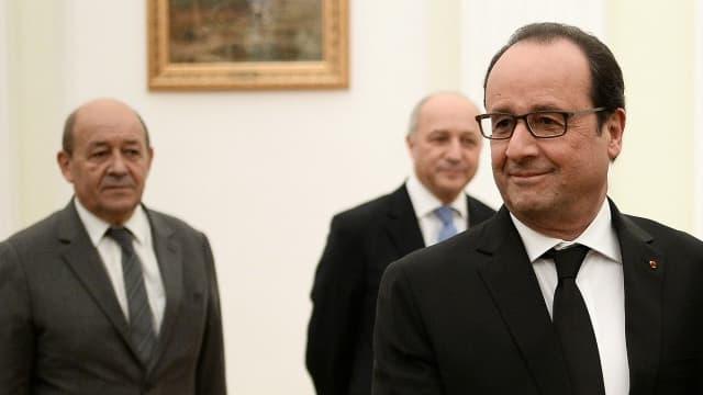 Vladimir Poutine accueillait François Hollande à Moscou le 26 novembre 2015.