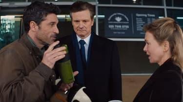 """Patrick Dempsey, Colin Firth et Renee Zellweger dans """"Bridget Jones 3""""."""