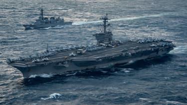 Le porte-avions américain Carl Vinson.