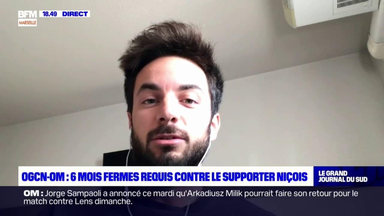 """Nice-OM: pour Maxime Bacquié, journaliste sportif, les six mois fermes requis contre un supporter niçois paraissent """"sévères"""""""