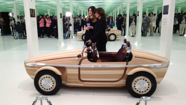 Le concept Setsuna est une voiture en bois, qui doit pouvoir se transmettre entre les générations.