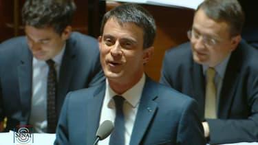 Manuel Valls au Sénat le 12 mai 2016.