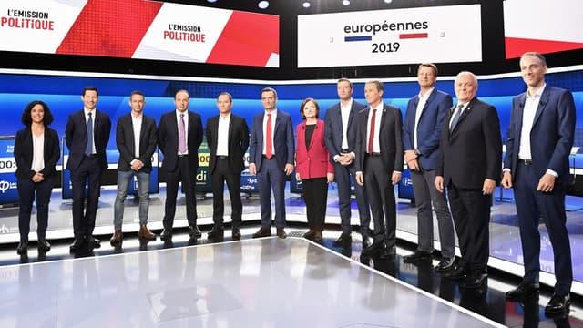 Les 12 candidats du débat