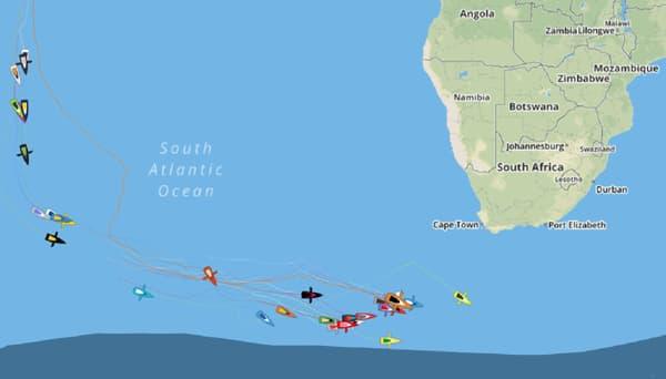 Le sauvetage d'Escoffier a lieu dans les 40es Rugissants, au sud-ouest de l'Afrique du Sud