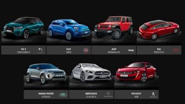 """Les 7 candidates au titre de """"plus belle voiture de l'année"""""""