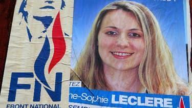 Anne-Sophie Leclere, ex-candidate et ex-membre du Front national, a été condamnée par la justice.