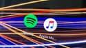 Les applications Spotify et Apple Music.