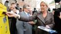 Marine Le Pen à Etoile, dans la Somme, ce mardi 9 octobre.