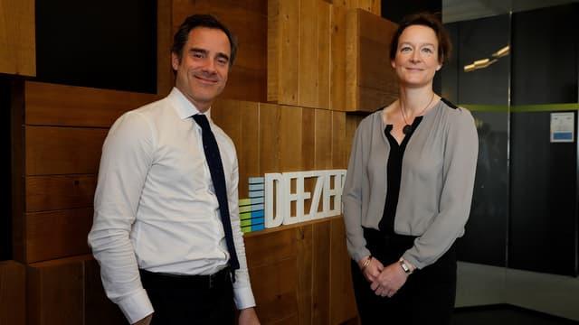 Alexis de Gemini, directeur général de Deezer, et Coralie Piton, directrice des produits culturels de la Fnac.