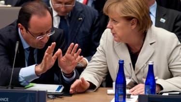"""La chancelière allemande est """"une interlocutrice fort sympathique"""", selon le président français"""