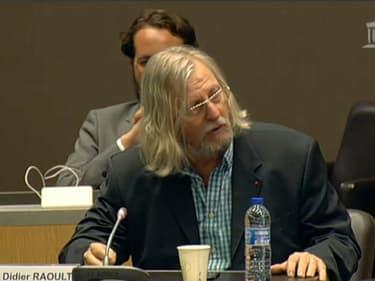 Didier Raoult, le 24 juin 2020, face aux députés