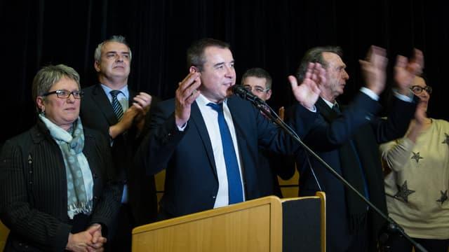 Frédéric Barbier après sa victoire dans le Doubs, le 8 février 2015