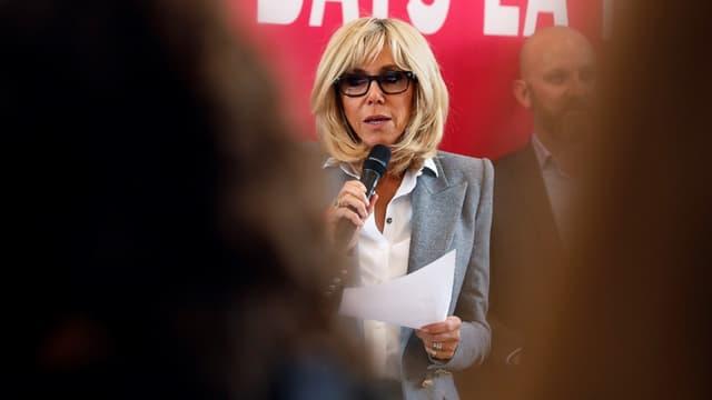 Brigitte Macron lors de la dictée annuelle organisée par l'Association ELA