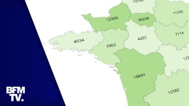 CARTE. Le nombre de personnes vaccinées en France, région par région