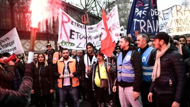 Manifestation contre la réforme des retraites à Paris, le 28 décembre 2019