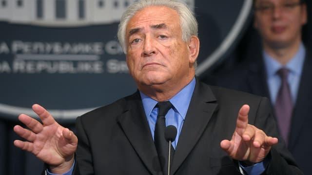 Dominique Strauss-Kahn à Belgrade, en septembre 2013.