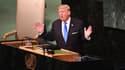 Le président américain Donald Trump, le 19 septembre 2017 à l'ONU, à New York.