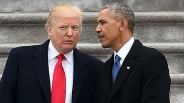 Donald Trump et Barack Obama, le 20 janvier 2017 à Washington