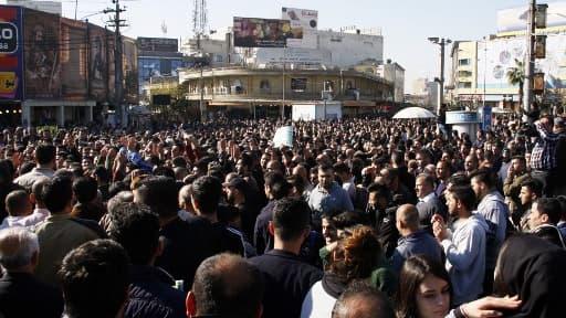 Une manifestation de Kurdes irakiens près de la ville de Sulaymaniyah le 18 décembre 2017.