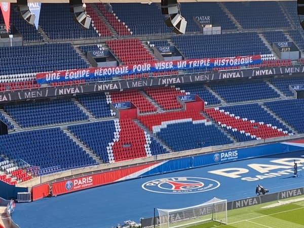 La banderole du CUP avant PSG-ASSE