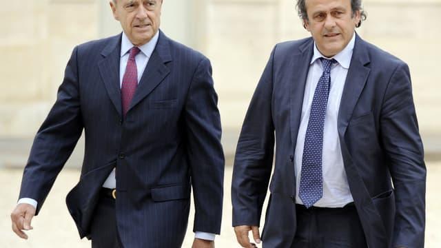 Euro 2016 : Alain Juppé et Michel Platini