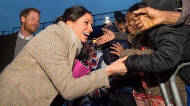 Le prince Harry et sa fiancée Meghan Markle à Brixton, le 9 janvier 2018.