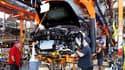 Un ligne de production de Cadillac ATS à LAnsing, aux Etats-Unis. General Motors procède à un nouveau rappel de véhicules aux Etats-Unis.