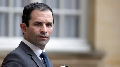 Benoît Hamon à la sortie de Matignon le 10 juillet.