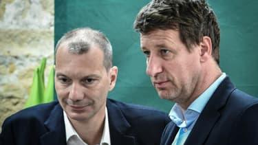 David Cormand et Yannick Jadot le 17 mai 2019 à Paris