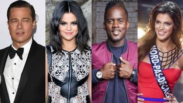 Brad Pitt, Selena Gomez, Black M et Iris Mittenaere.