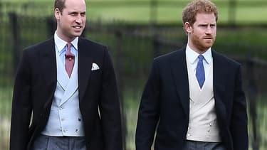 Les prince William et Harry, au mariage de Pippa Middleton, le 20 2017