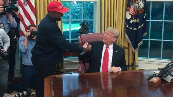 Kanye West et Donald Trump le 11 octobre