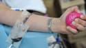 Une personne donne son sang dans un centre de collecte de Paris, le 14 juin 2010 (illustration)