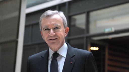 Bernard Arnault, le PDG de LVMH, a présenté des résultats en forte hausse pour 2012, mercredi 31 janvier.