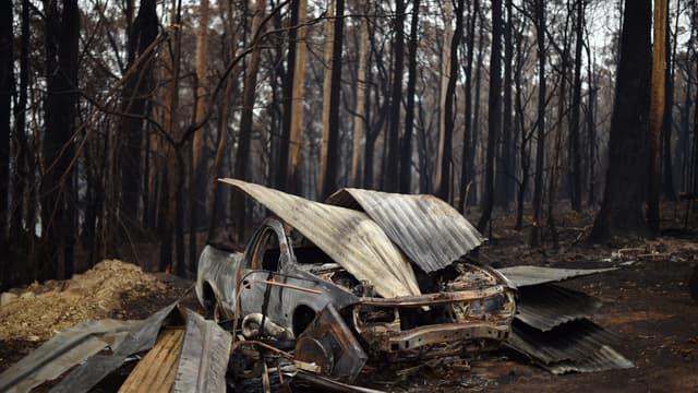 Paysage calciné en Australie.