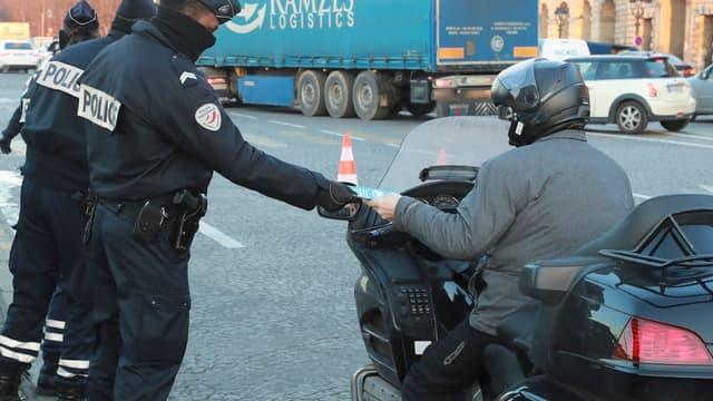 Un contrôle routier (photo d'illustration).