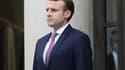 Emmanuel Macron à l'Elysée, le 23 janvier 2018.