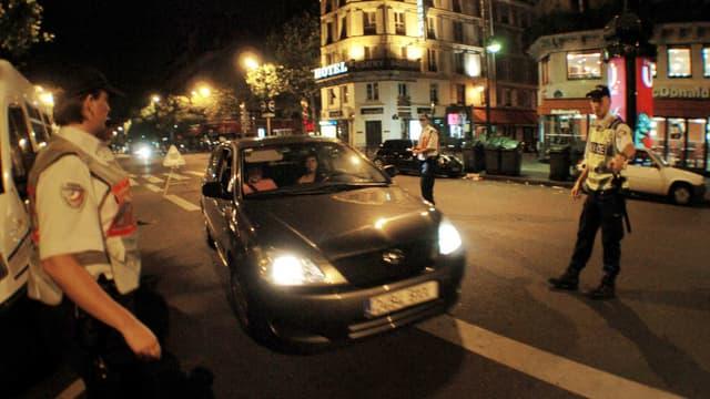 Image d'illustration - Un contrôle de dépistage de l'alcoolémie dans les rues de Paris.