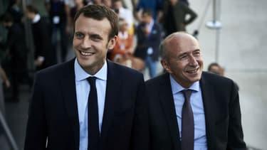 Emmanuel Macron et Gérard Collomb