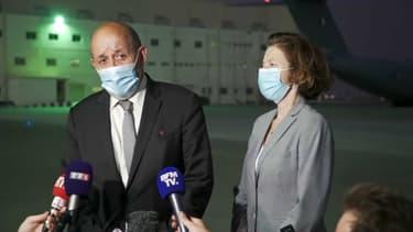 Jean-Yves Le Drian, ministre des Affaires étrangères, et Florence Parly, ministre des Armées