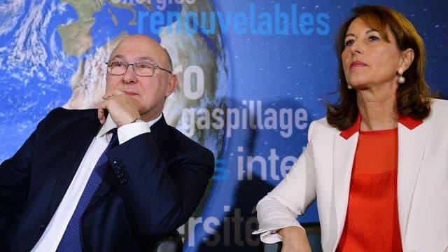 Michel Sapin et Ségolène Royal ont présenté l'obligation verte le 3 janvier dernier.